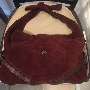 Burberry Suede Shoulder Knot Bag